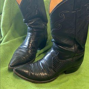 Lizard skin Justin boots